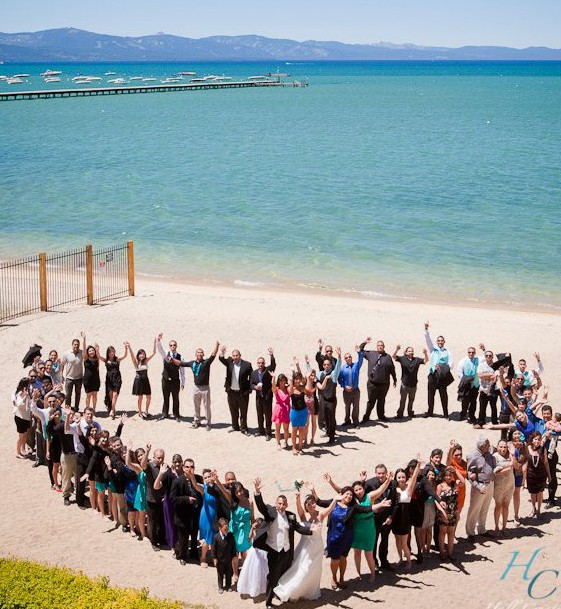 heart shape wedding party